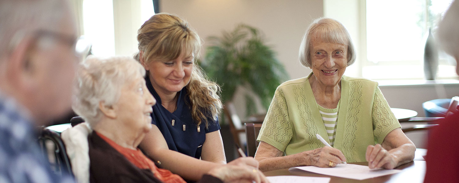 Older people in a care home